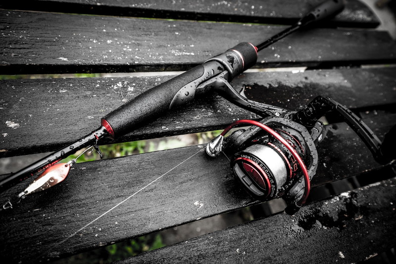 fishing line on a spinning reel