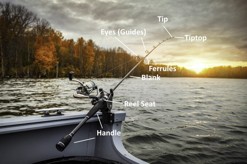 parts of a fishing rods